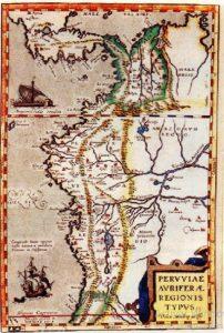 mapa Peruviae Auriferae Regionis Typus